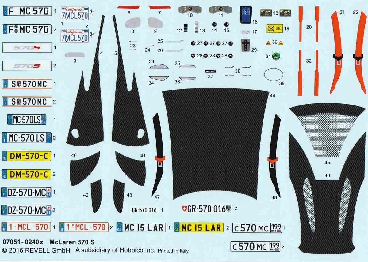 Revell-07051-McLaren-570S-18 McLaren 570S im Maßstab 1:24 von Revell