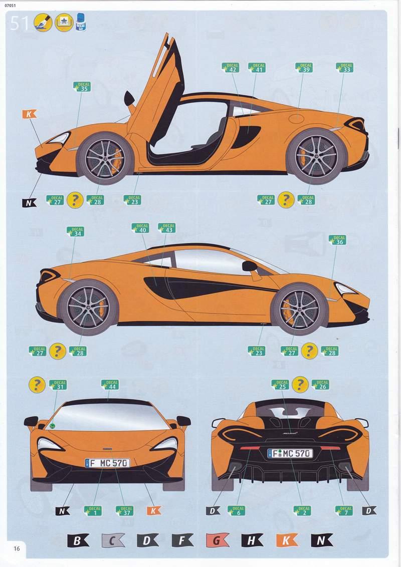 Revell-07051-McLaren-570S-6 McLaren 570S im Maßstab 1:24 von Revell