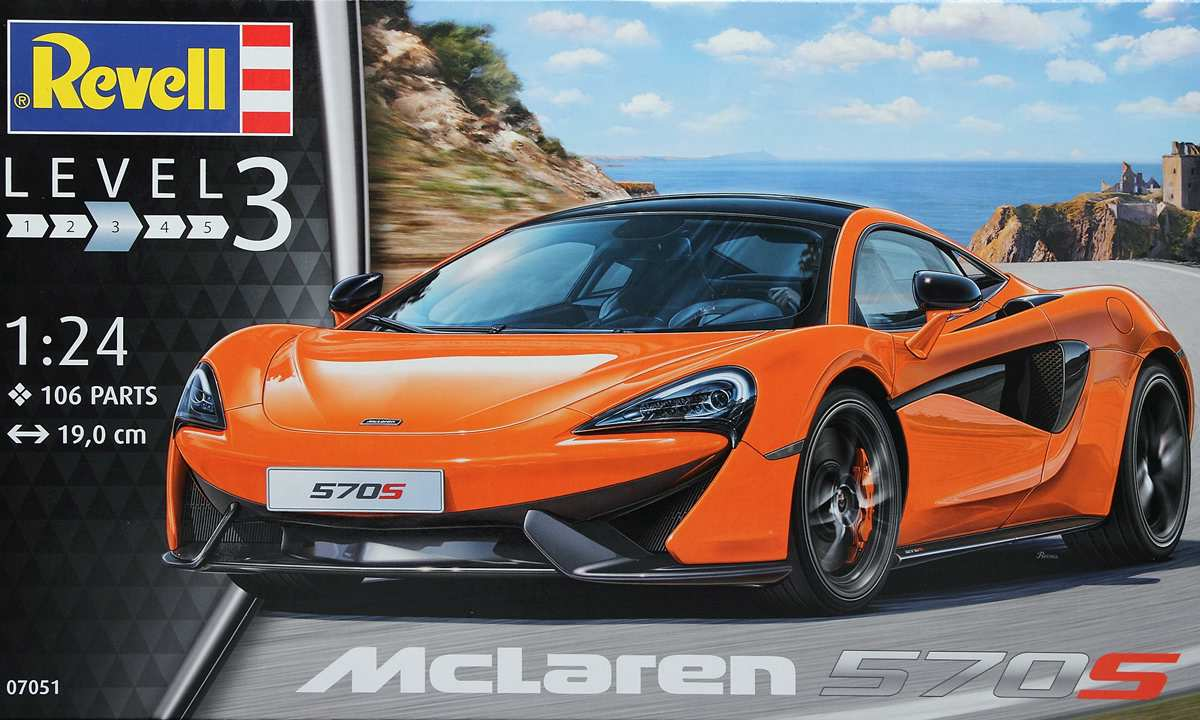 Revell-07051-McLaren-570S-Deckelbild McLaren 570S im Maßstab 1:24 von Revell
