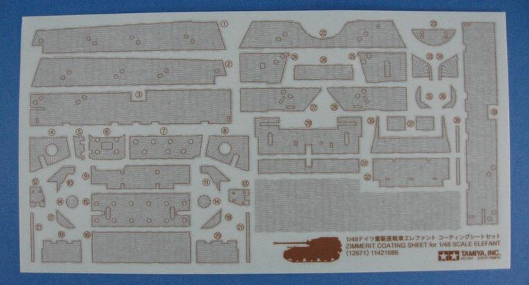 """Tamiya-1zu48-Panzerjäger-Elefant-23 German Heavy Tank Destroyer """"Elefant"""" im Maßstab 1:48 von Tamiya 32589"""