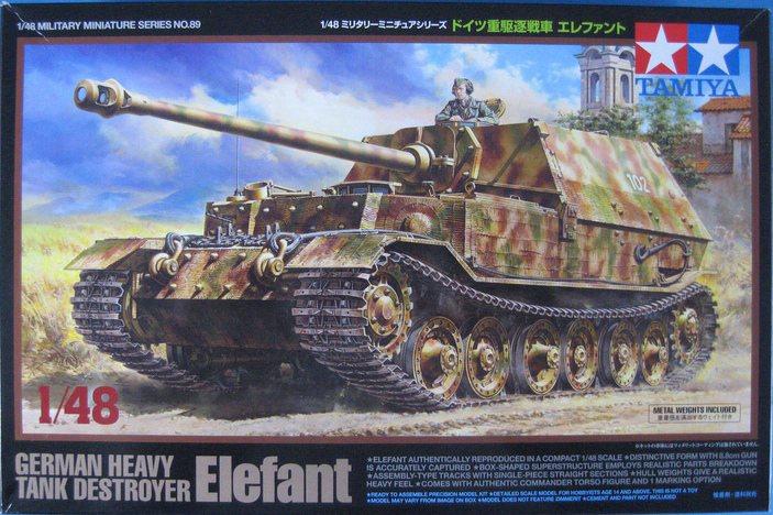 """Tamiya-1zu48-Panzerjäger-Elefant-5 German Heavy Tank Destroyer """"Elefant"""" im Maßstab 1:48 von Tamiya 32589"""