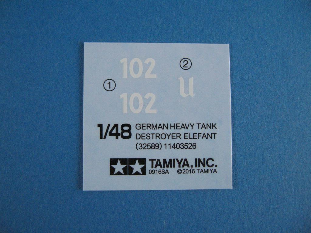 """Tamiya-1zu48-Panzerjäger-Elefant-8 German Heavy Tank Destroyer """"Elefant"""" im Maßstab 1:48 von Tamiya 32589"""