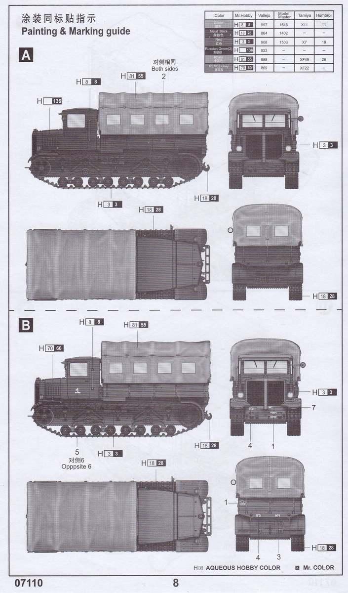 Trumpeter-07110-Soviet-Voroshilovets-Tractor-1 Soviet Artillery Tractor Voroshilovets von Trumpeter 1:72