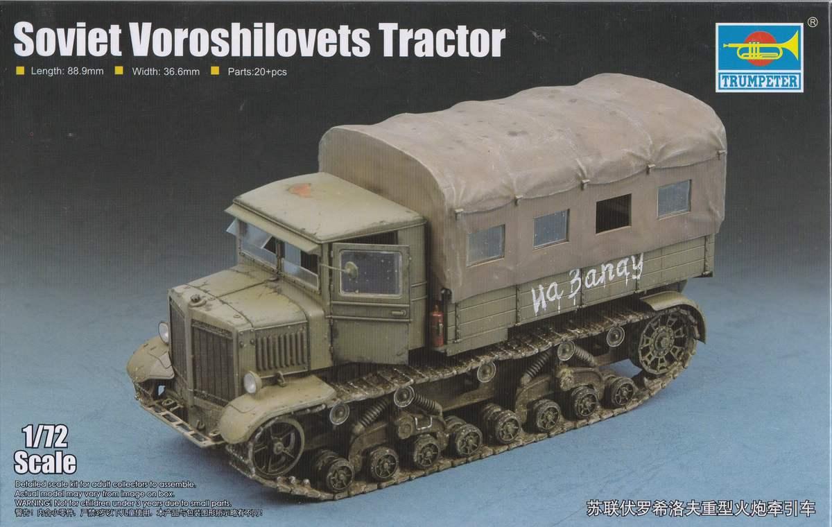 Trumpeter-07110-Soviet-Voroshilovets-Tractor-26 Soviet Artillery Tractor Voroshilovets von Trumpeter 1:72