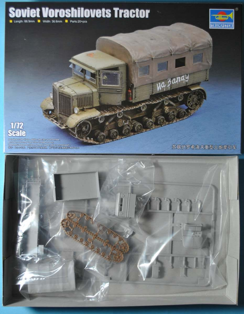 Trumpeter-07110-Soviet-Voroshilovets-Tractor-9 Soviet Artillery Tractor Voroshilovets von Trumpeter 1:72