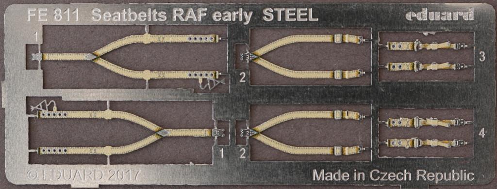 2-2 STEEL Seatbelts RAF early & Luftwaffe WW2 Eduard 1:48 (FE811 & FE812)