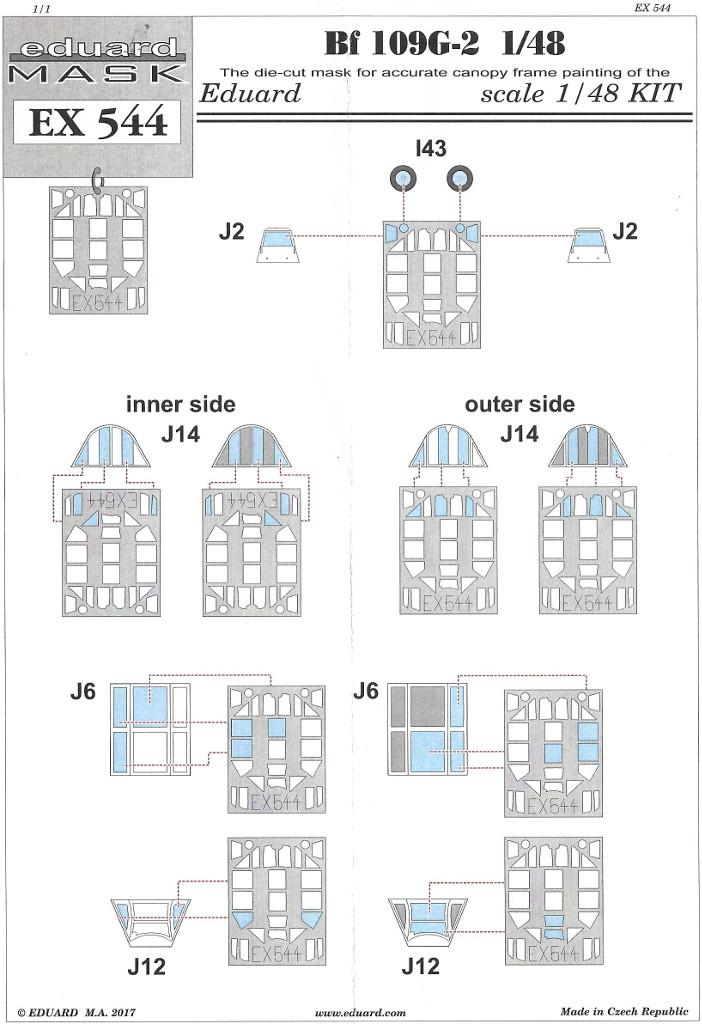 Anleitung Diverses Zubehör für die Bf 109 G-2 von Eduard in 1:48