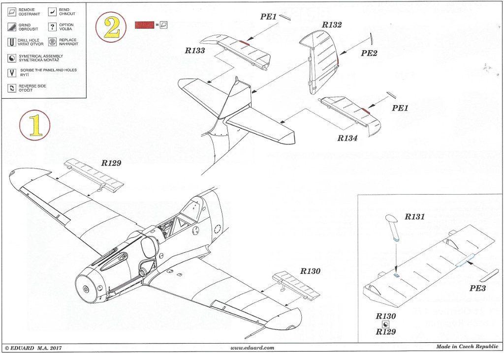 Anleitung2-3-1024x718 Diverses Zubehör für die Bf 109G Serie von Eduard in 1:48