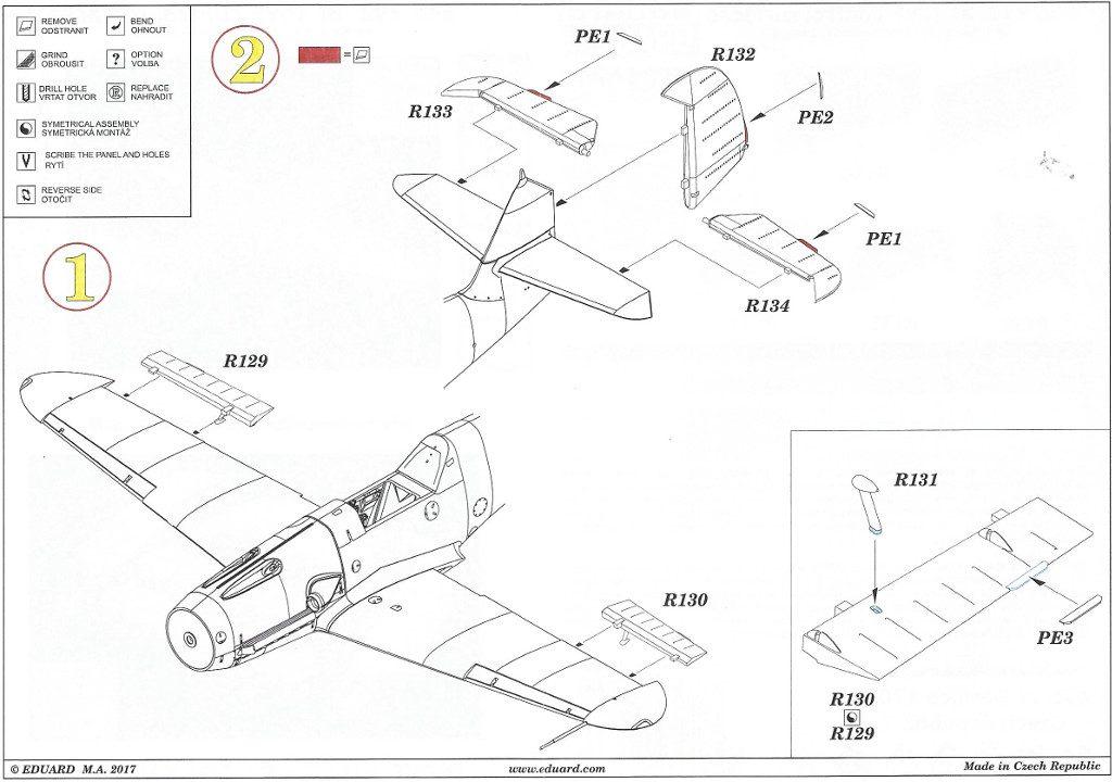 Anleitung2-6-1024x720 Diverses Zubehör für die Bf 109F von Eduard in 1:48