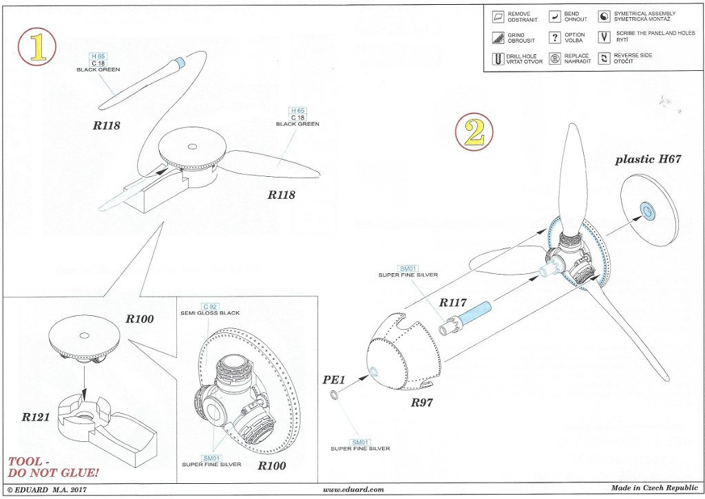 Anleitung2-9-1024x725 Diverses Zubehör für die Bf 109F von Eduard in 1:48