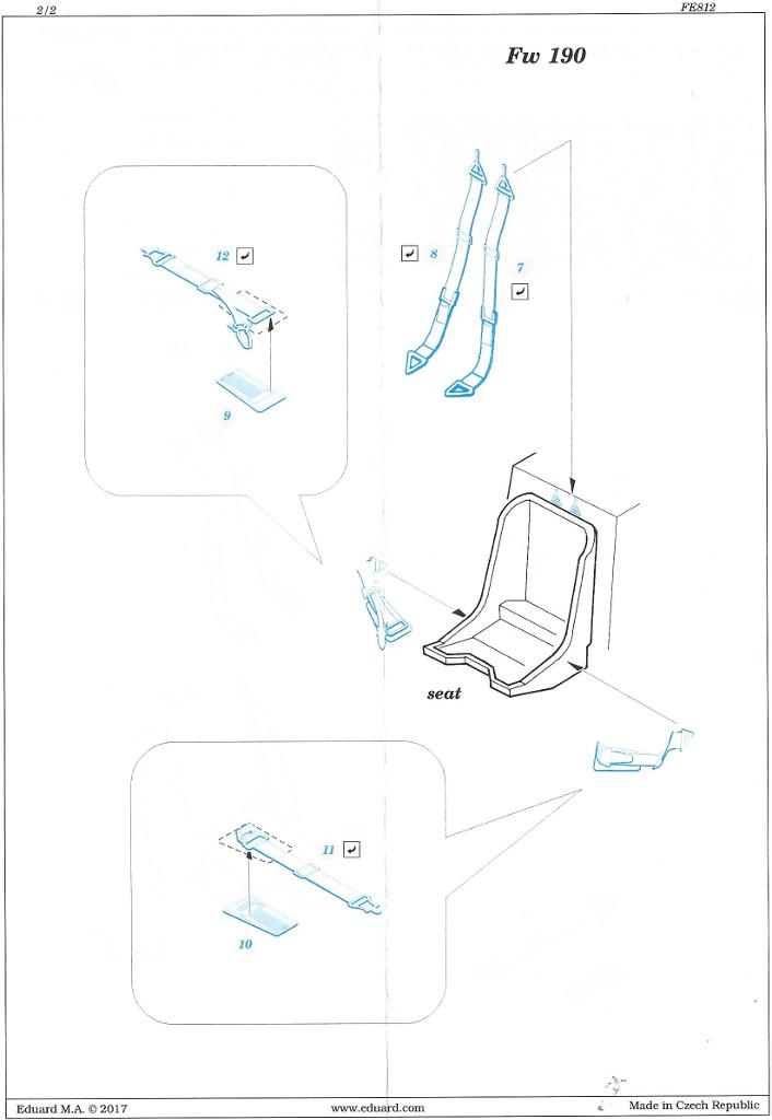 Anleitung3 STEEL Seatbelts RAF early & Luftwaffe WW2 Eduard 1:48 (FE811 & FE812)