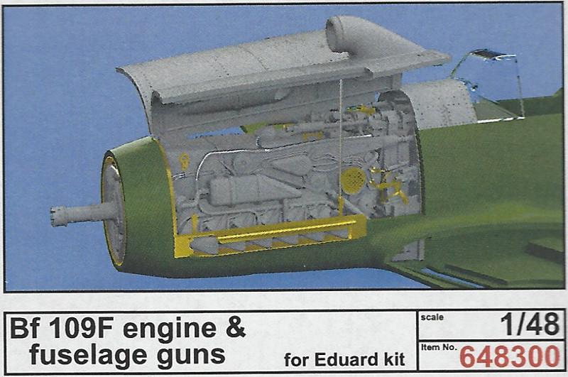 Box-7 Bf 109F Engine and Fuselage Guns Eduard 1:48 (648 300)