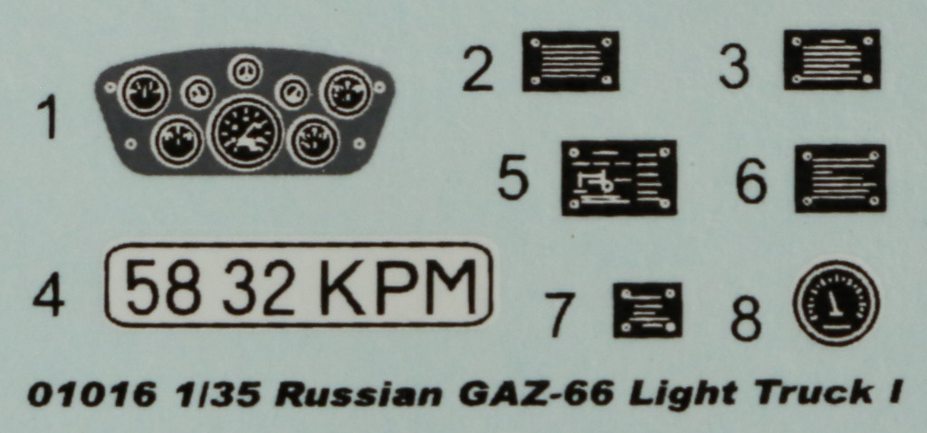 Decals Russian GAZ-66 Light Truck Trumpeter 01016 (1:35)