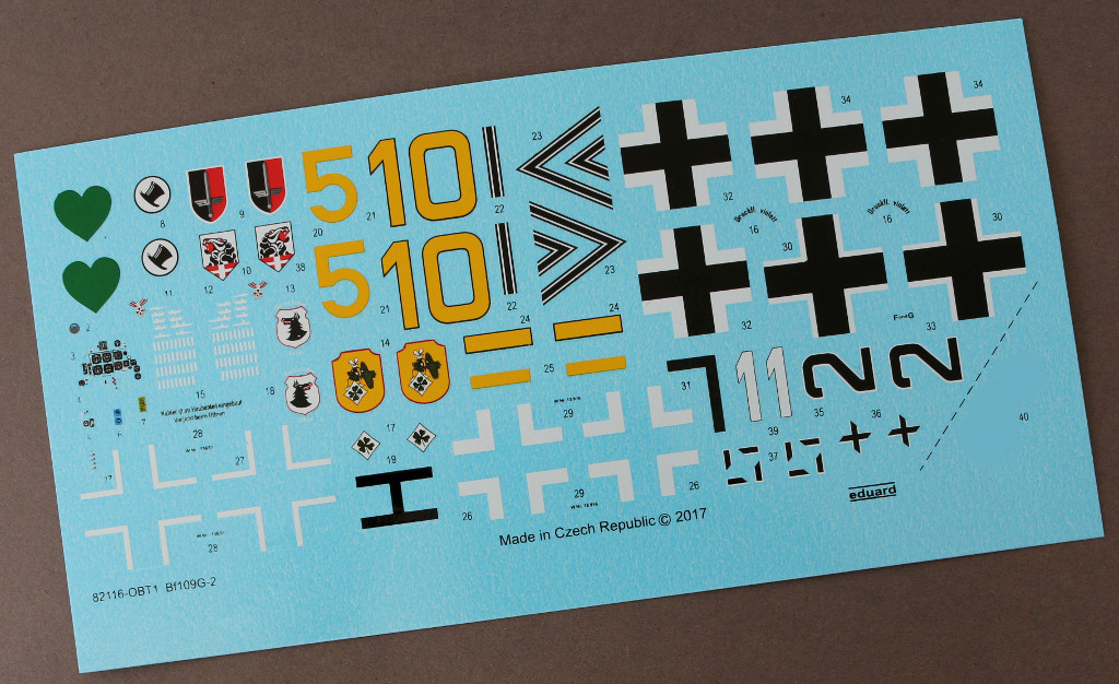 Decals1 Bf 109G-2 1:48 Eduard ProfiPACK (82116)