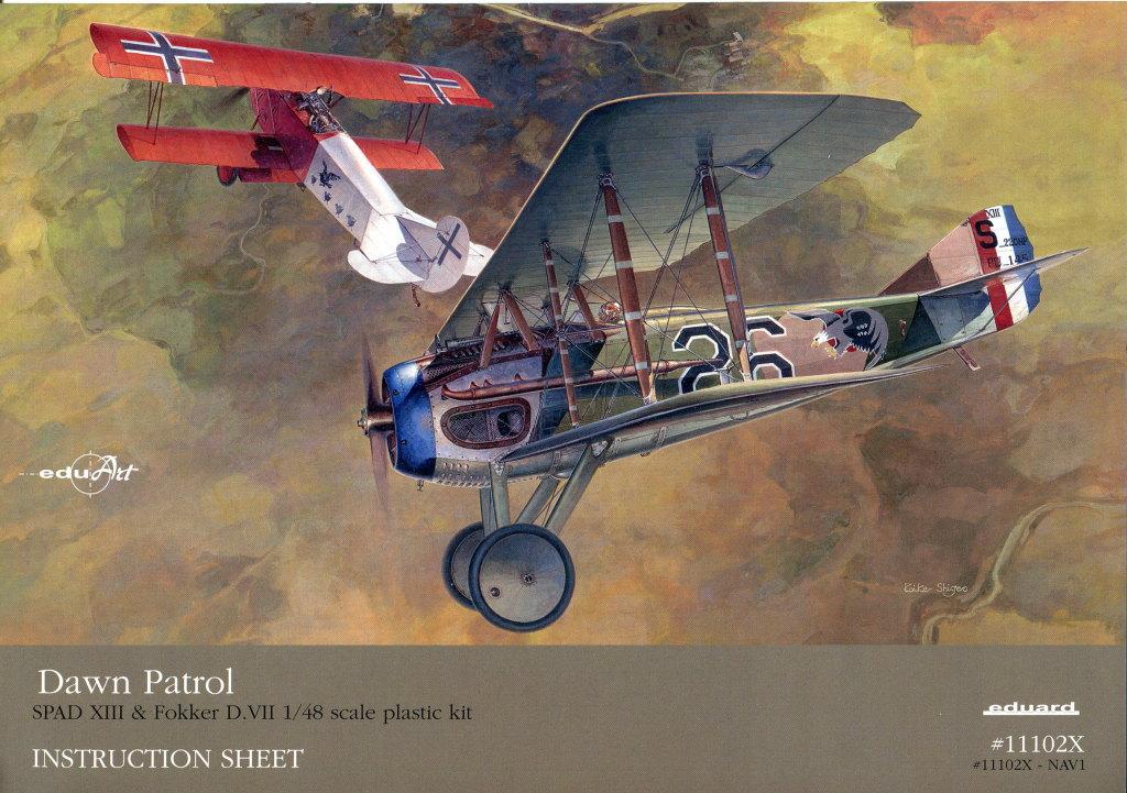 "EduArt_Dawn_Patrol_04 EduArt-Edition ""DAWN PATROL"" - Spad XIII & Fokker D.VII - Eduard 1/48 --- #11102X"