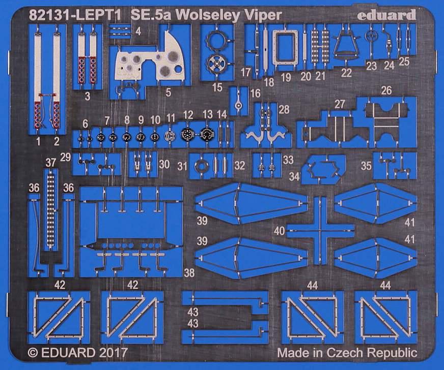 Eduard-82131-SE.5a-Wolseley-Viper-Photoätzteile Die neue SE.5a Wolseley Viper von Eduard in 1:48 (# 82131 )