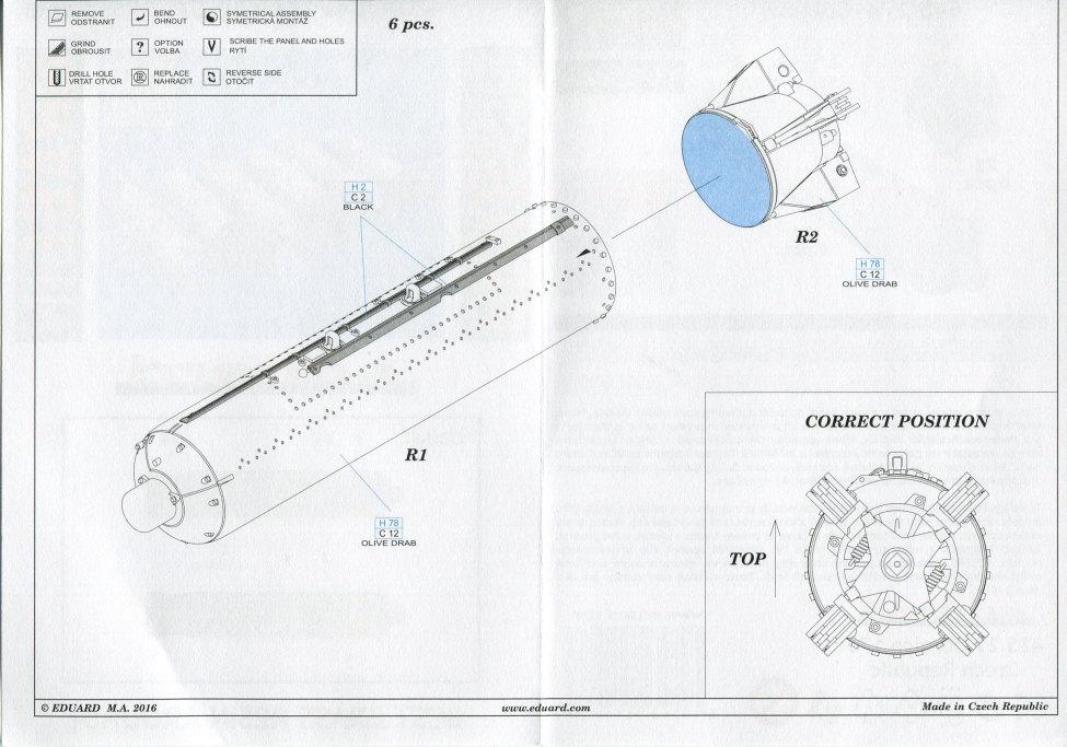 Eduard_BRASSIN_CBU-87_2 CBU-87 Cluster Bomb Unit - Eduard BRASSIN 1/48 --- #648274