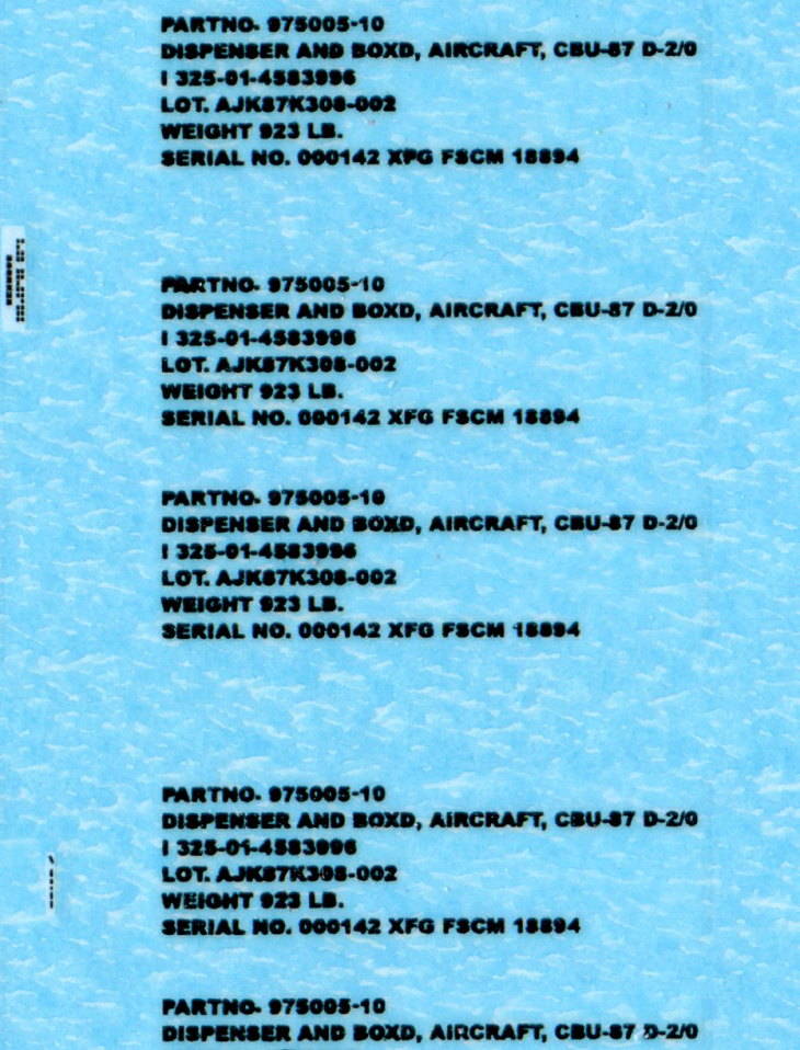Eduard_BRASSIN_CBU-87_5 CBU-87 Cluster Bomb Unit - Eduard BRASSIN 1/48 --- #648274