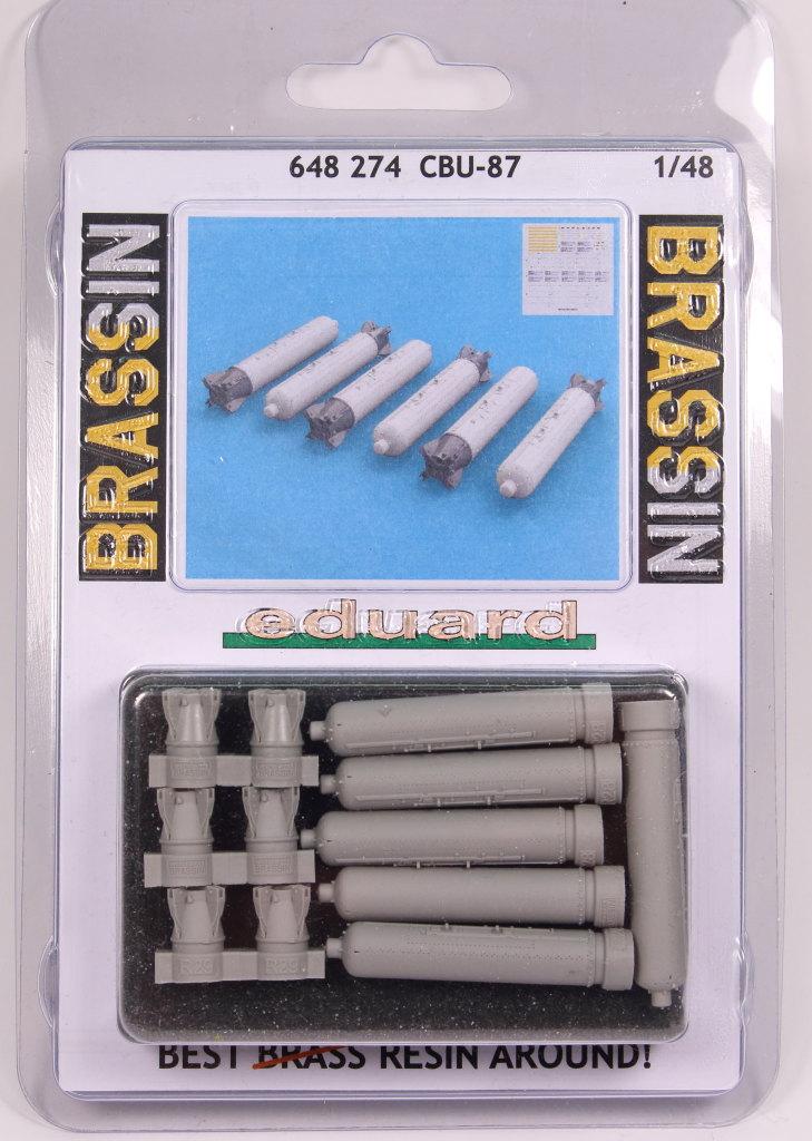 Eduard_BRASSIN_CBU-87_7 CBU-87 Cluster Bomb Unit - Eduard BRASSIN 1/48 --- #648274