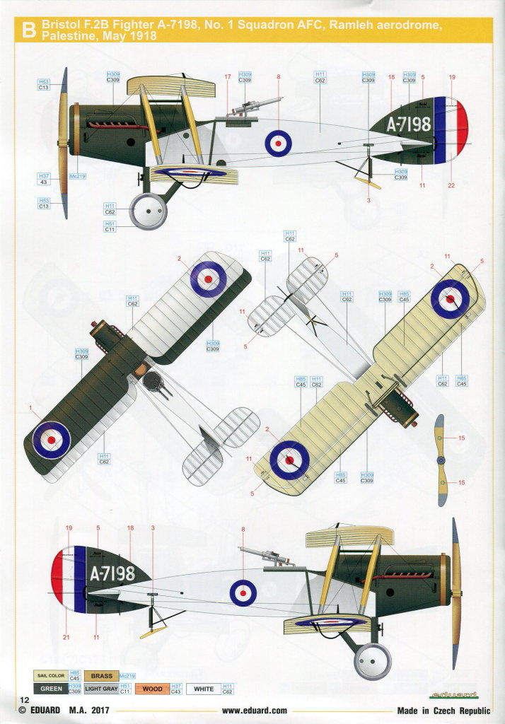 Eduard_Bristol-F.2B-Weekend-201728 Bristol F.2B - Eduard Weekend Edition - 1/48 --- #8489