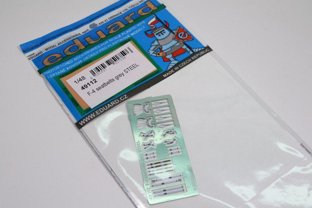 Eduard_F-4_Seatbelts-Steel_01 F-4 Phantom II Seat Belts grey - Eduard STEEL - 1/48 --- #49112