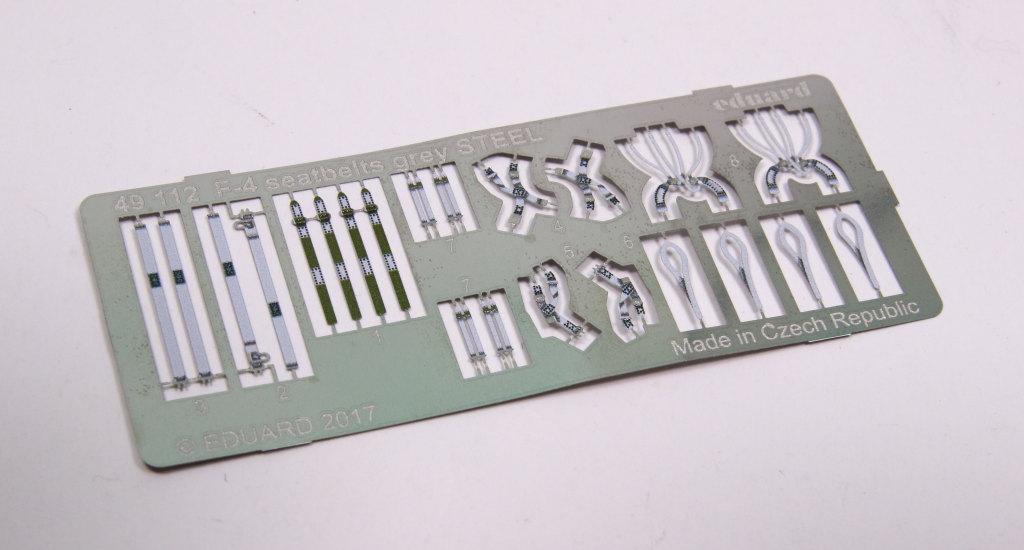Eduard_F-4_Seatbelts-Steel_02 F-4 Phantom II Seat Belts grey - Eduard STEEL - 1/48 --- #49112