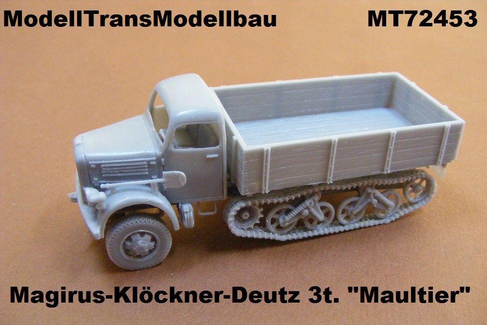 ModellTrans-MT72453-Magirus-KHD-3-Tonnen-Maultier Neuheiten von Modelltrans für die EuroModelExpo am 25./26. März