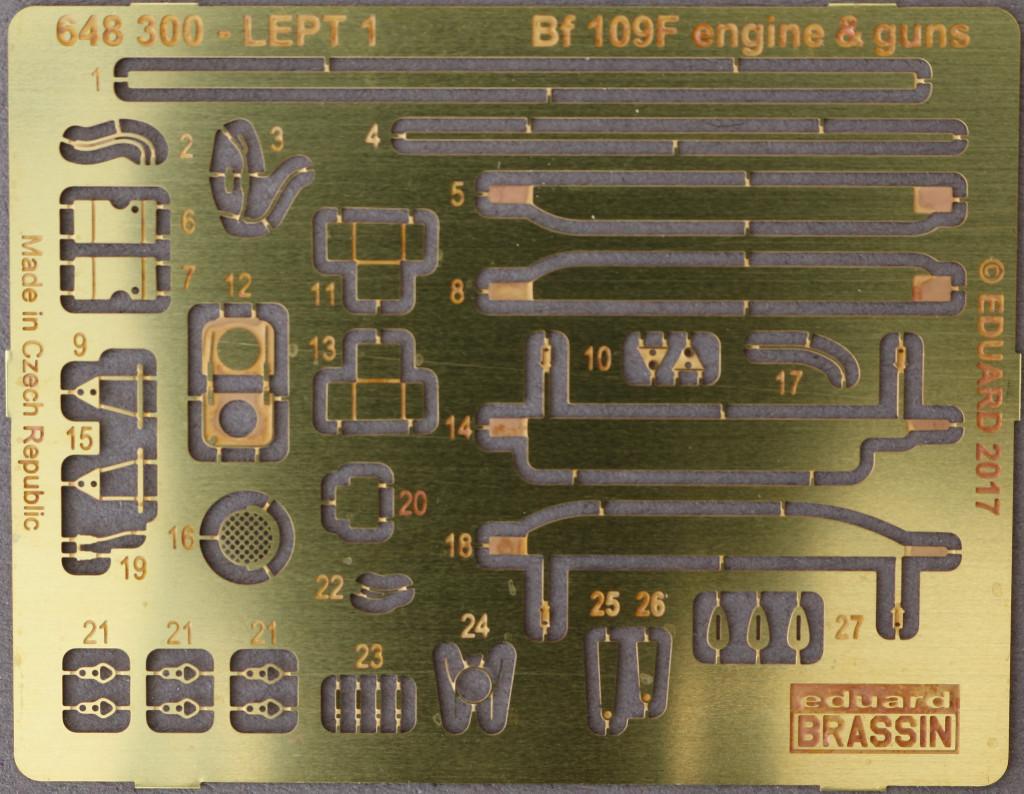 PE-Teile Bf 109F Engine and Fuselage Guns Eduard 1:48 (648 300)