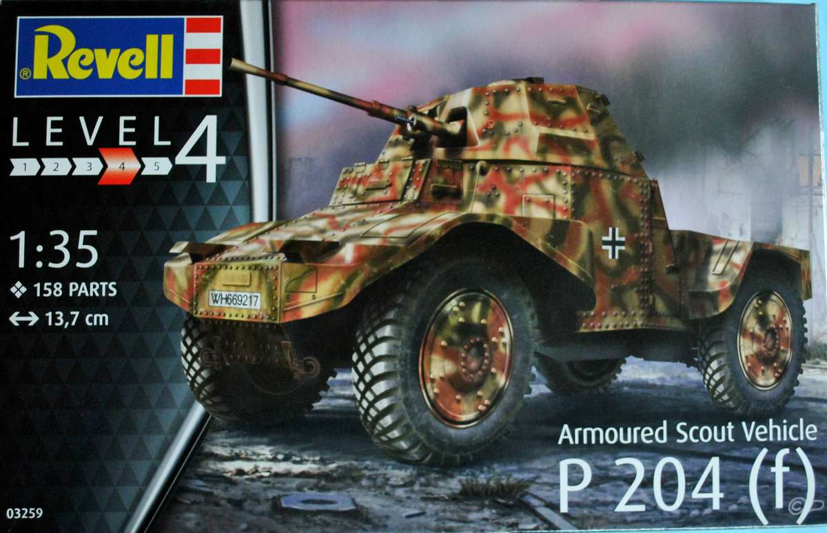 Revell-03259-P-204-f-2 Armoured Scout Vehicle P 204 (f) von Revell ( 03259)