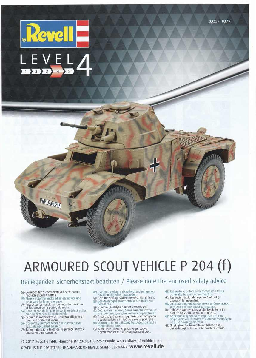 Revell-03259-P-204-f-35 Armoured Scout Vehicle P 204 (f) von Revell ( 03259)
