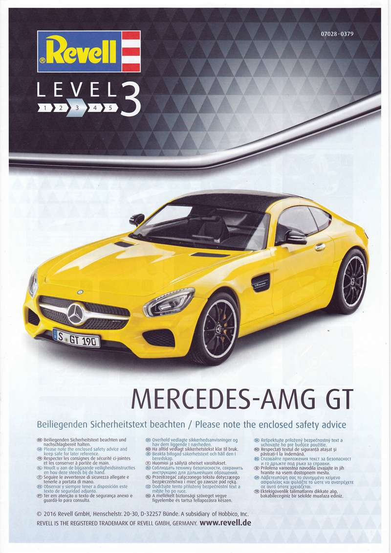 Revell-07028-Mercedes-AMG-19 Mercedes AMG GT in 1:24 von Revell