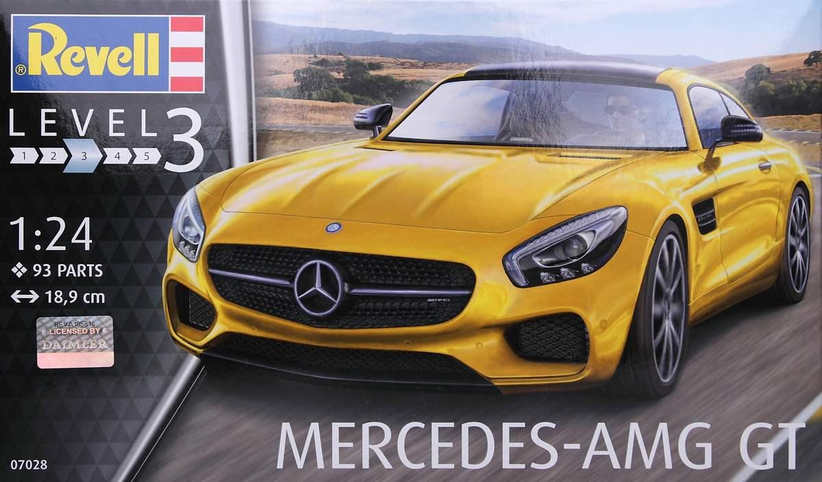 Revell-07028-Mercedes-AMG-8 Mercedes AMG GT in 1:24 von Revell