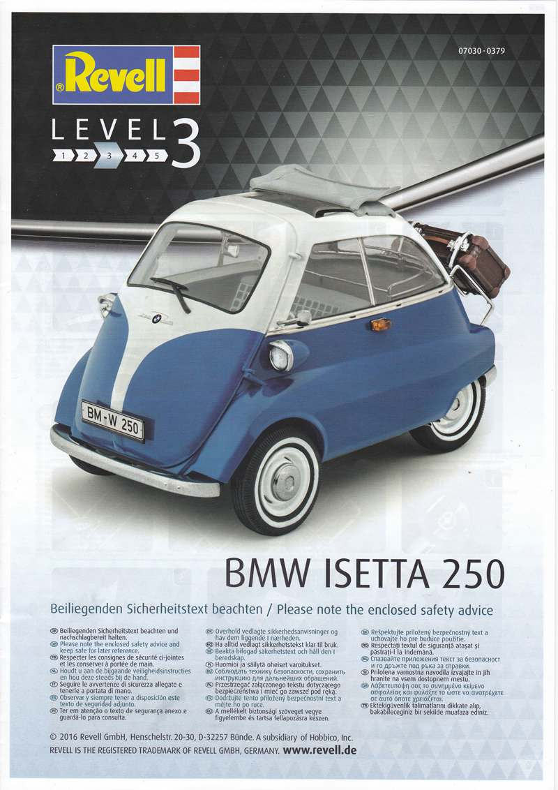 Revell-07030-BMW-Isetta-11 BMW Isetta 250 im Maßstab 1:16 von Revell