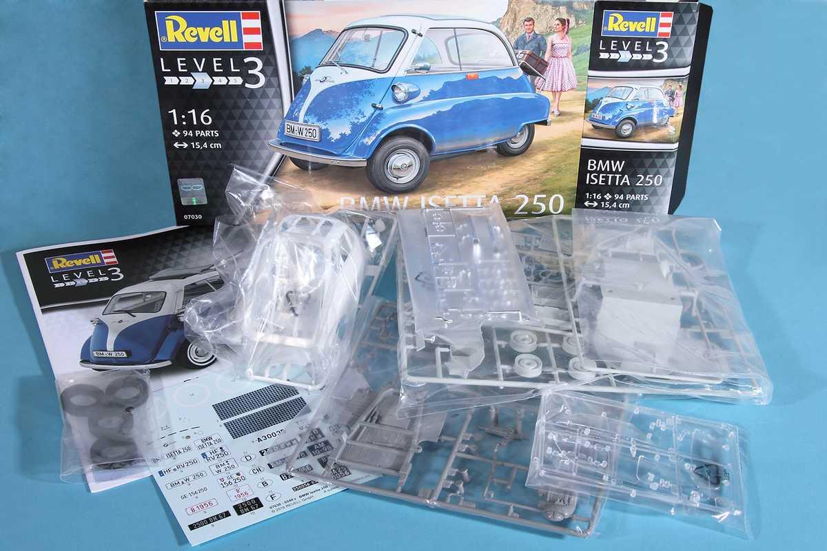 Revell-07030-BMW-Isetta-15 BMW Isetta 250 im Maßstab 1:16 von Revell