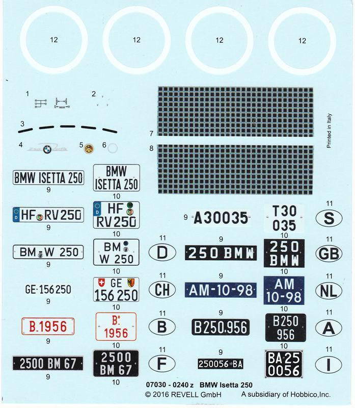 Revell-07030-BMW-Isetta-33 BMW Isetta 250 im Maßstab 1:16 von Revell