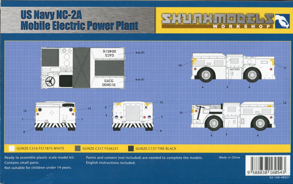 Skunk_Power_Plant_11 NC-2A MOBILE ELECTRIC POWER PLANT - Skunkmodels Workshop - 1/48 --- #48021