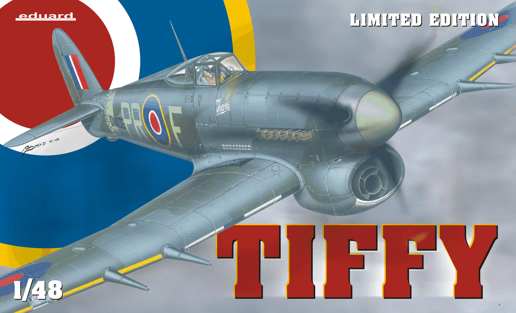 Eduard-1131-Hawker-Typhoon-Mk.-Ib-Deckelbild TIFFY - Typhoon Mk. Ib von Eduard im Maßstab 1:48 ( # 1131 )