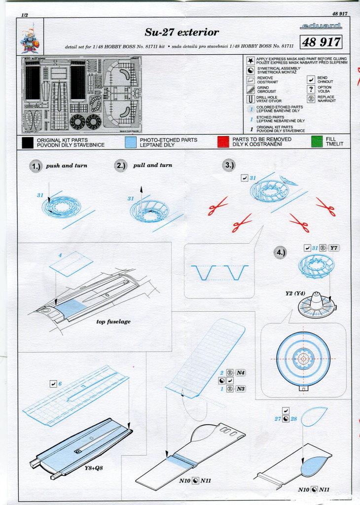 Eduard_Ext_Su-27_HB_02 Eduard-Zubehör für die Su-27 Flanker B von Hobby Boss - 1/48