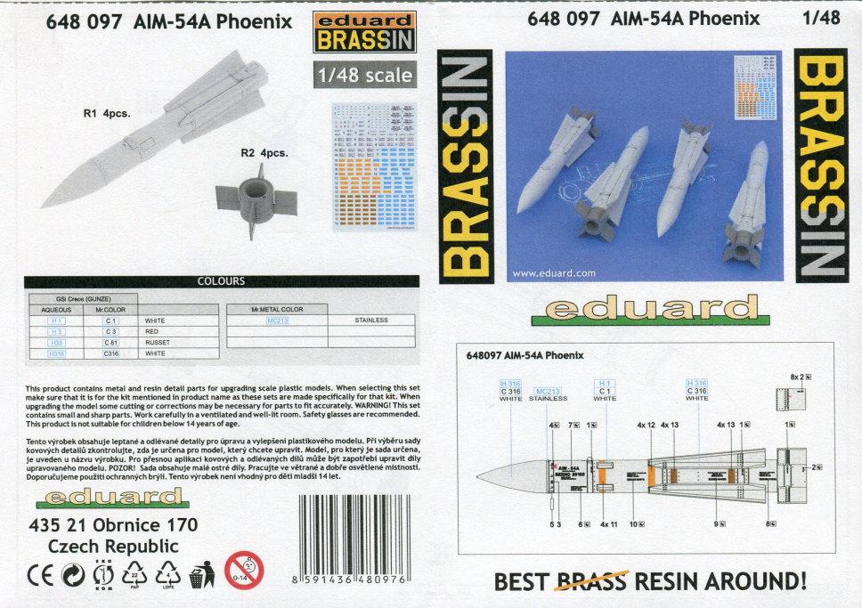 Eduard_F-14_Weapons-Set_12 F-14A Weapons Set - Eduard 1/48  ---  #SIN64828