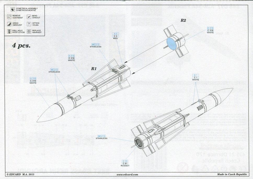 Eduard_F-14_Weapons-Set_13 F-14A Weapons Set - Eduard 1/48  ---  #SIN64828