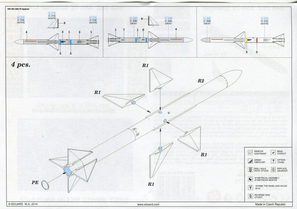 Eduard_F-14_Weapons-Set_17 F-14A Weapons Set - Eduard 1/48  ---  #SIN64828