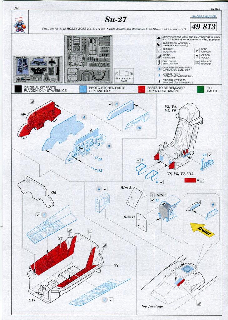 Eduard_Int_Su-27_HB_08 Eduard-Zubehör für die Su-27 Flanker B von Hobby Boss - 1/48