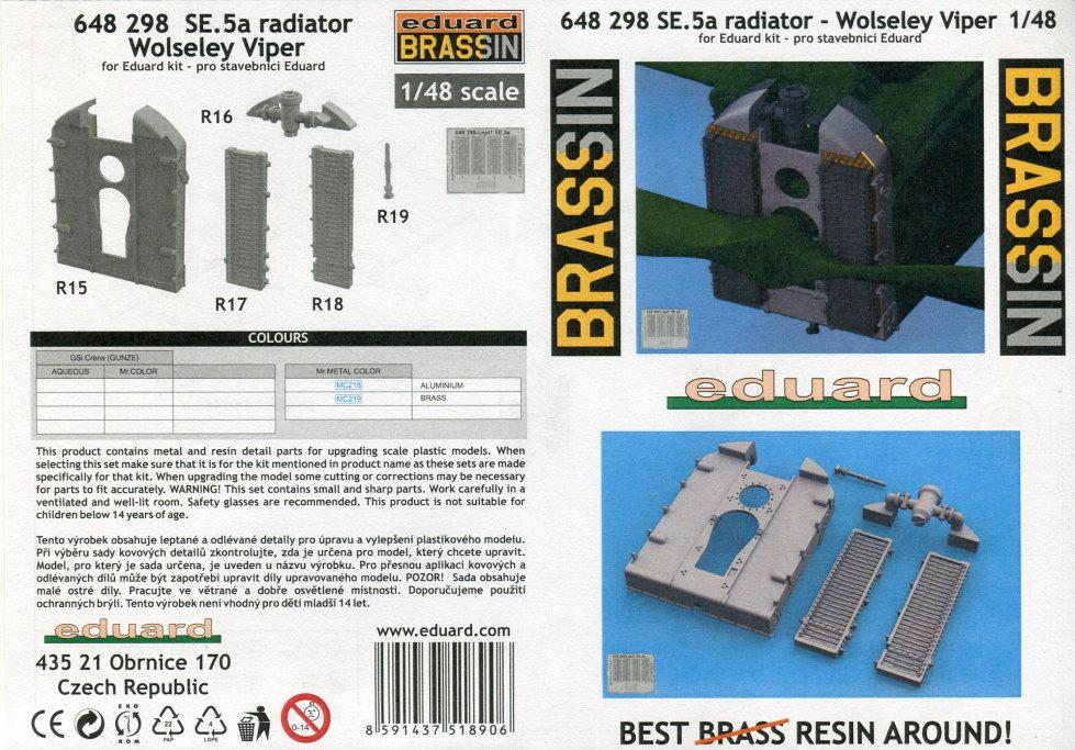 Eduard_SE.5a_radiator_08 Eduard-Zubehör für die SE.5a - 1/48