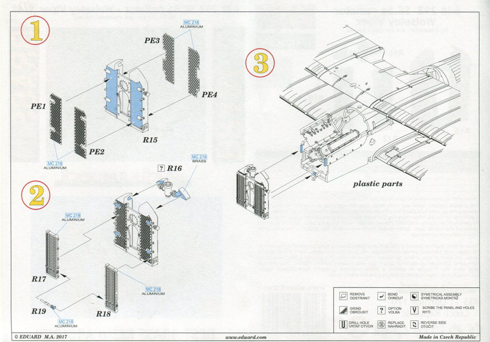 Eduard_SE.5a_radiator_09 Eduard-Zubehör für die SE.5a - 1/48