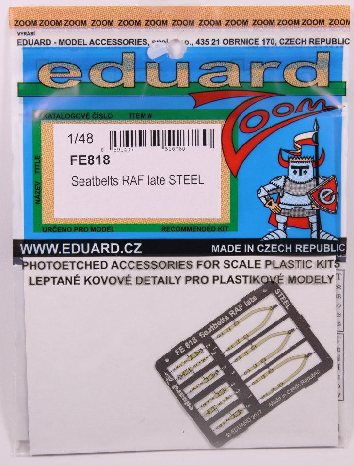 Eduard_Seatbelt-RAF-late_01 Seatbelts WWII - 'RAF late' und 'USAF' - Eduard STEEL 1/48 - #FE817 und FE818