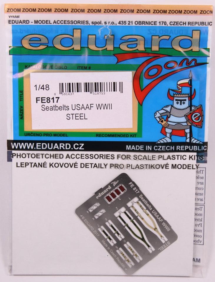 Eduard_Seatbelt-USAF-WWII__01 Seatbelts WWII - 'RAF late' und 'USAF' - Eduard STEEL 1/48 - #FE817 und FE818