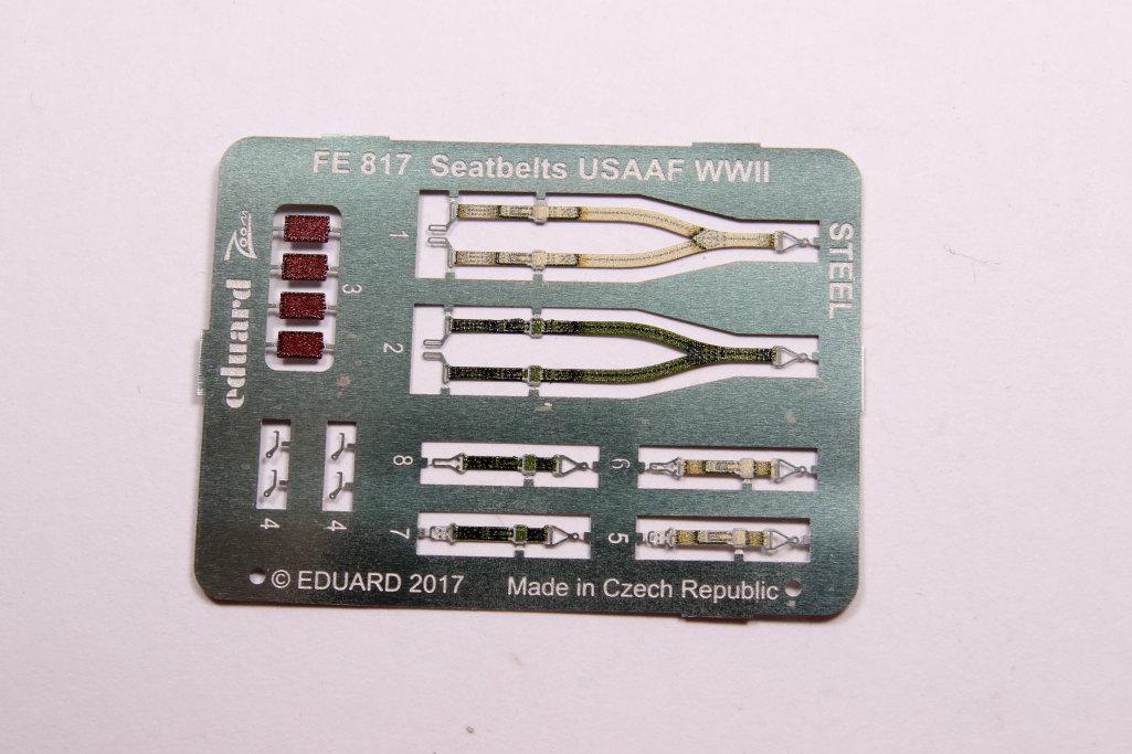 Eduard_Seatbelt-USAF-WWII__03 Seatbelts WWII - 'RAF late' und 'USAF' - Eduard STEEL 1/48 - #FE817 und FE818