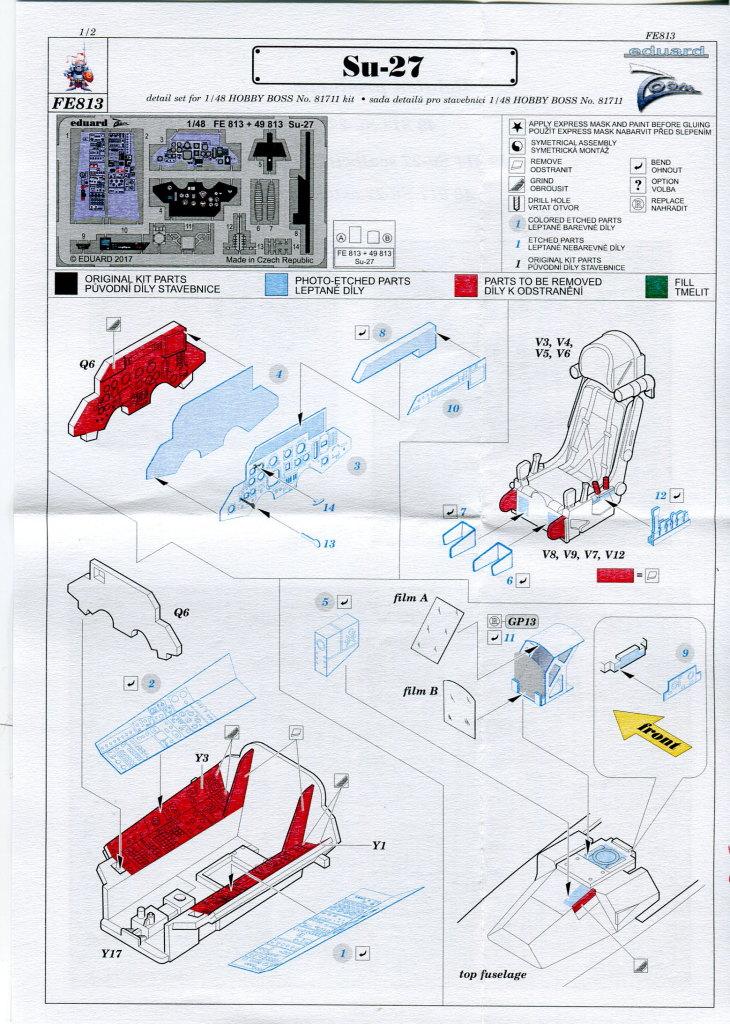 Eduard_Zoom_Su-27_HB_02 Eduard-Zubehör für die Su-27 Flanker B von Hobby Boss - 1/48