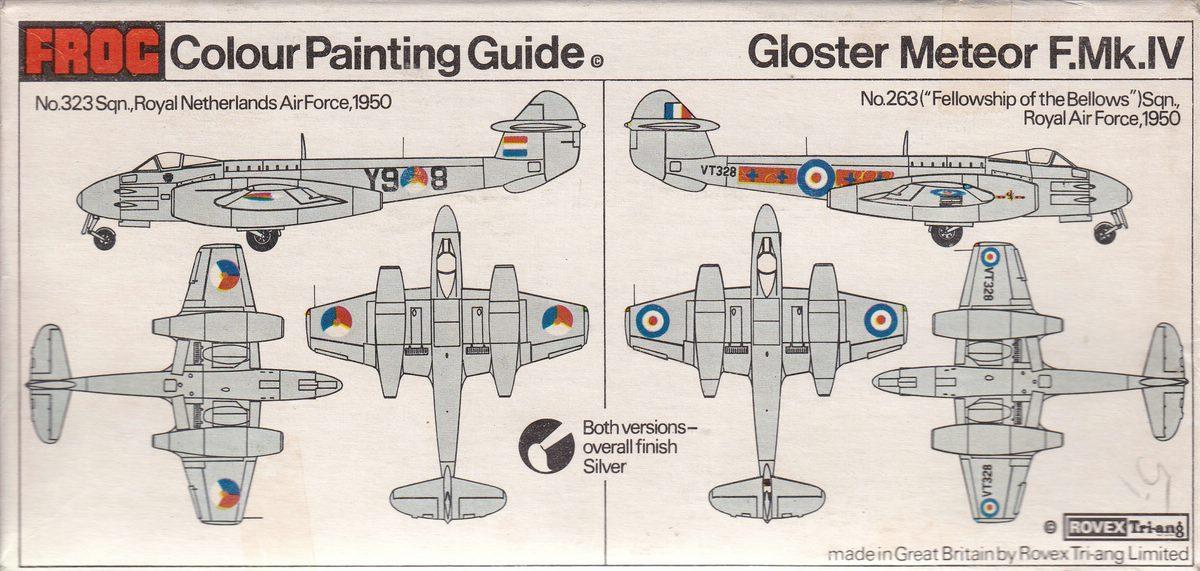 FROG-F200-Gloster-Meteor-F.Mk_.IV-Bemalungsplan Gloster Meteor F.Mk. IV von FROG im Maßstab 1:72