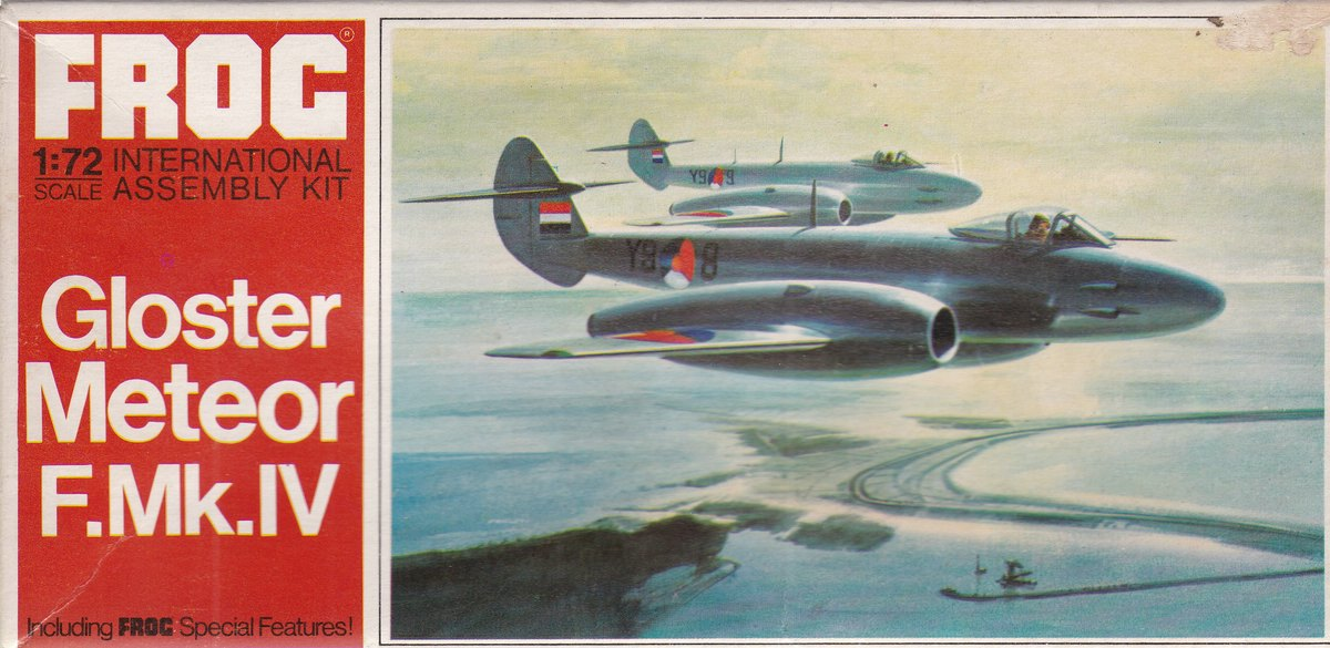 FROG-F200-Gloster-Meteor-F.Mk_.IV-Deckelbild Gloster Meteor F.Mk. IV von FROG im Maßstab 1:72